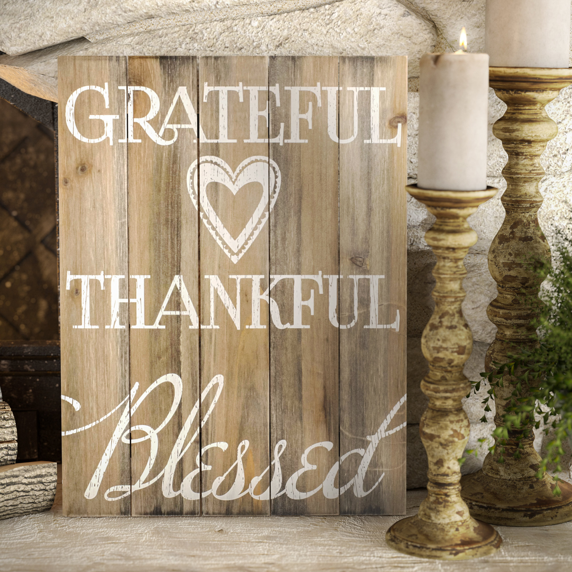 Thankful Wall Decor | Wayfair With Regard To Fawcett Thankful Heart Wall Decor (View 6 of 30)