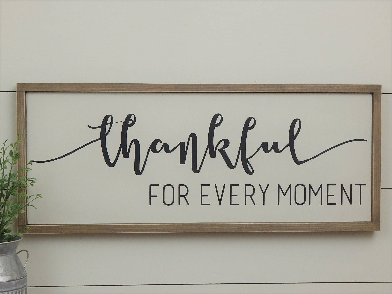 Thankful Wood Sign | Farmhouse Style Wood Sign | Rustic Wall Within Fawcett Thankful Heart Wall Decor (View 5 of 30)