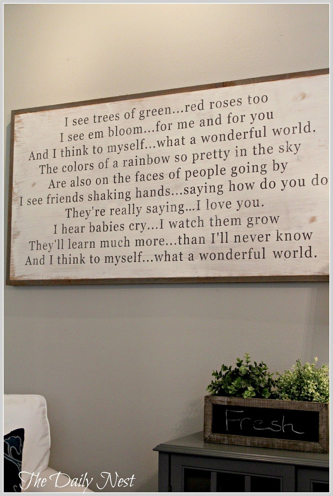The Daily Nest: What A Wonderful World-Between You And Me for Wonderful World Wall Decor (Image 14 of 30)