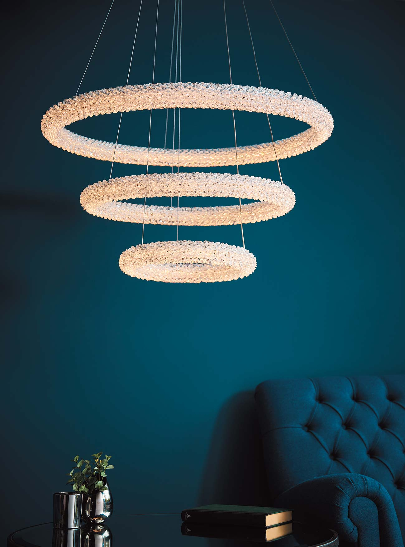 The Endon Collection - Official Uk Supplier in Oriana 4-Light Single Geometric Chandeliers (Image 29 of 30)
