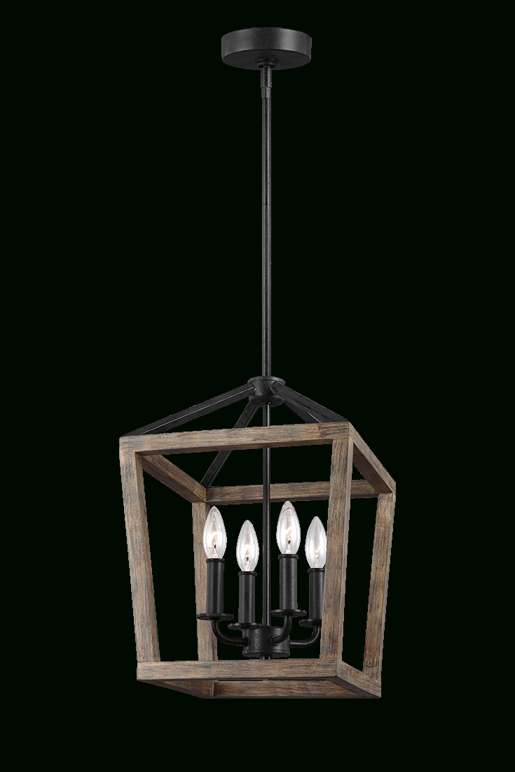 The Gannet 4-Light Chandelierfeiss Exudes Rustic Charm throughout Odie 8-Light Lantern Square / Rectangle Pendants (Image 27 of 30)