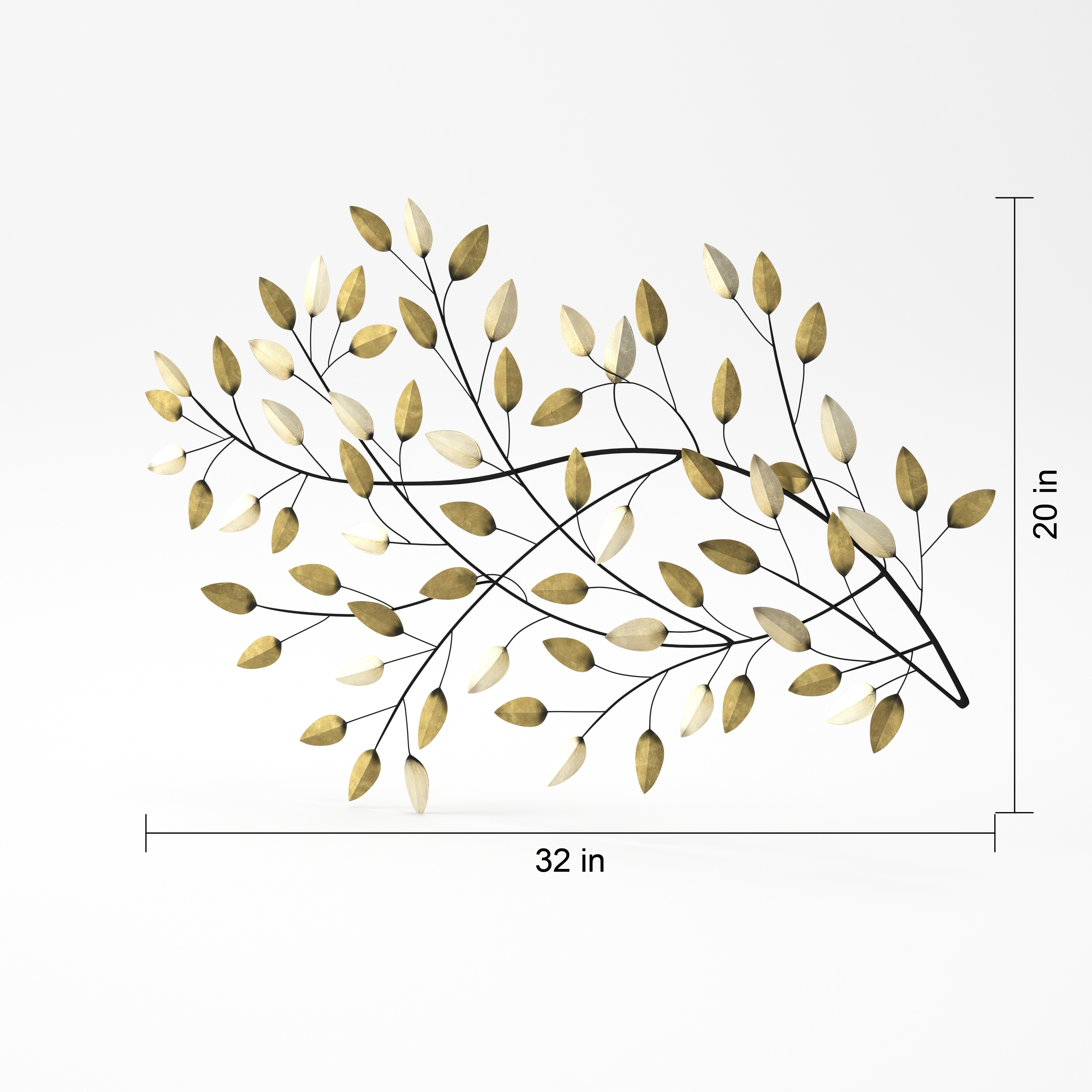 The Gray Barn Jartop West Blowing Leaves Wall Decor Shipping regarding Desford Leaf Wall Decor (Image 28 of 30)