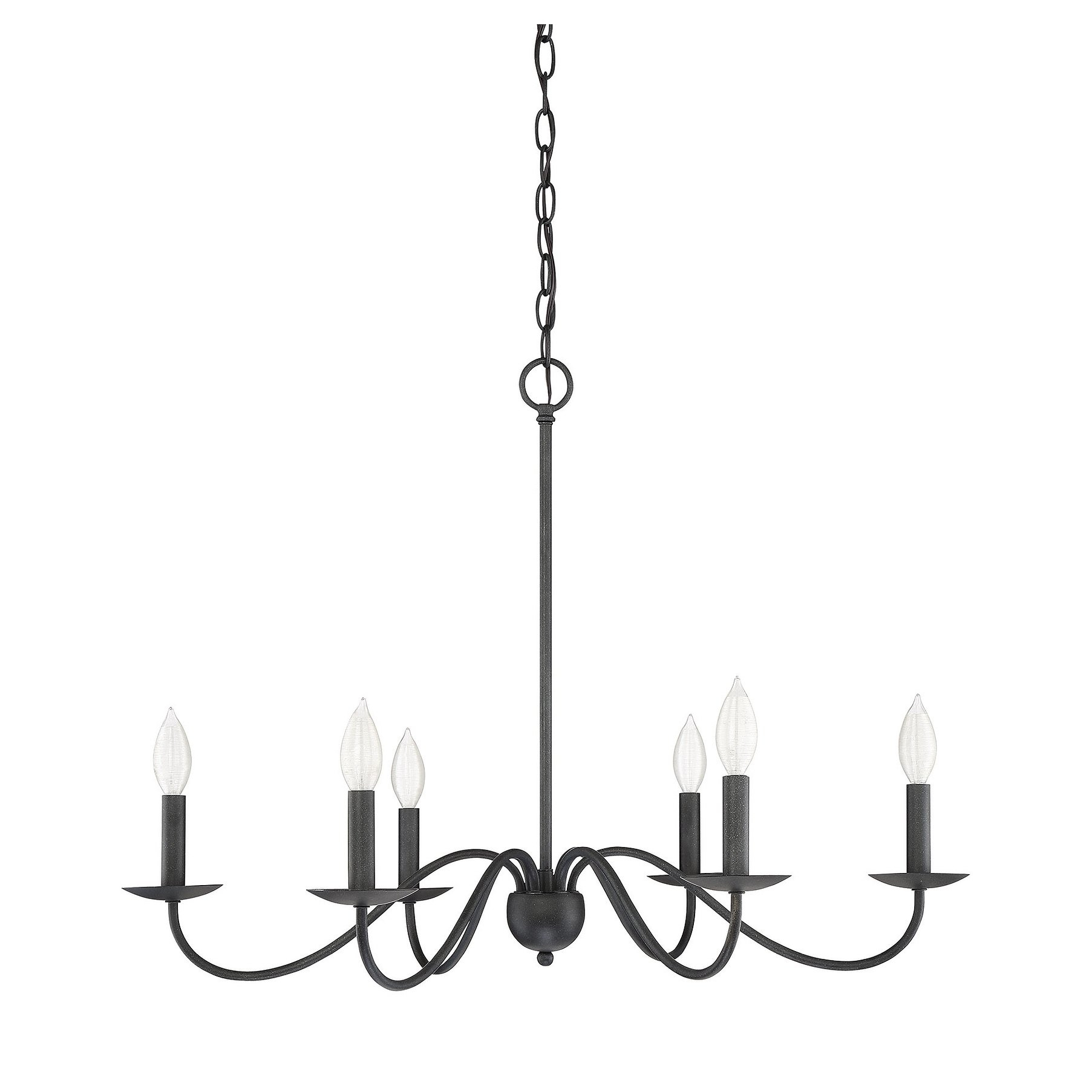 The Gray Barn Lunasa 6 Light Chandelier With Aged Iron In Within Hamza 6 Light Candle Style Chandeliers (View 10 of 30)