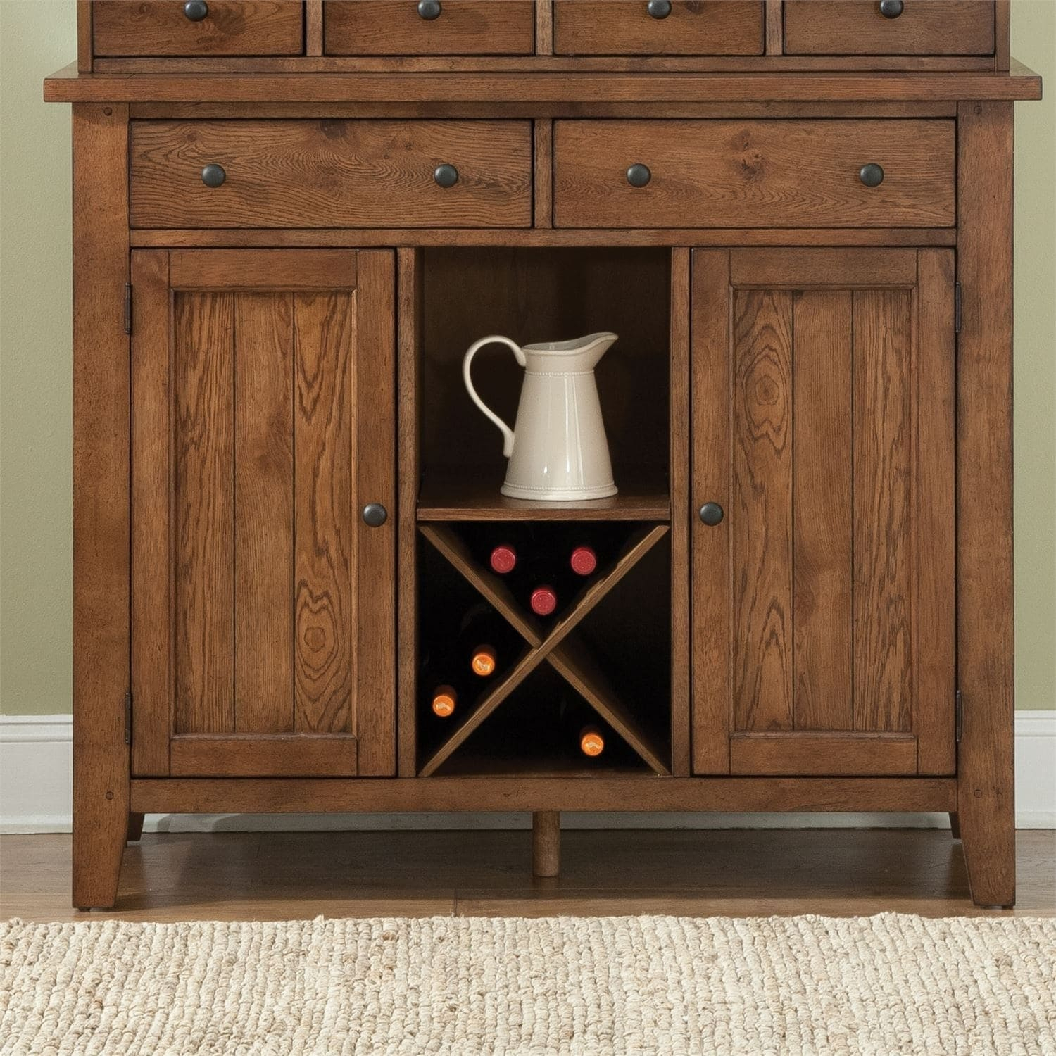 The Gray Barn North Brother Rustic Oak Server, Brown Pertaining To Colborne Sideboards (View 28 of 30)