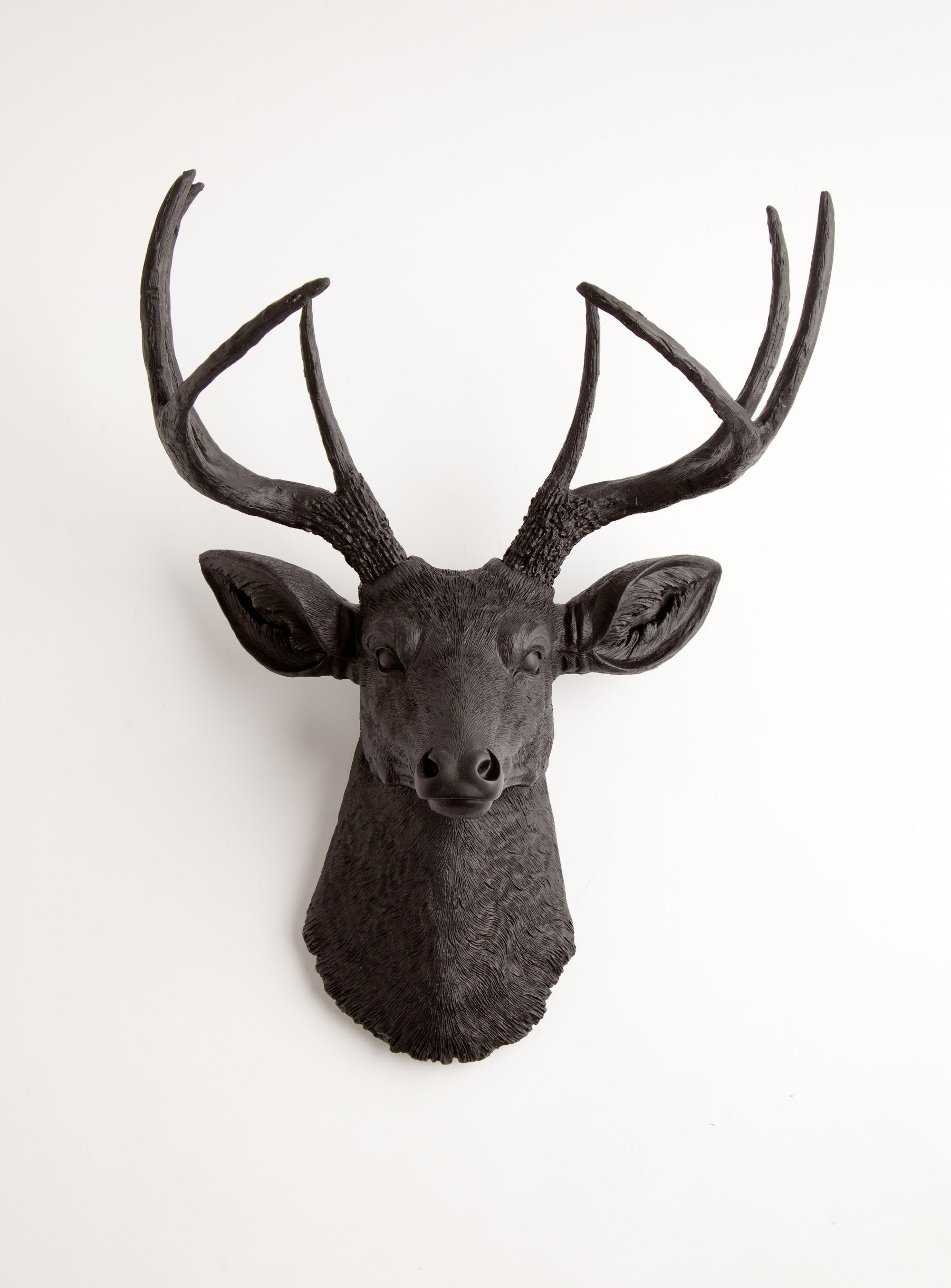 The Ignatius | Black Deer Head Wall Mount | Fake Taxidermy within Atlantis Faux Taxidermy Wall Decor (Image 29 of 30)