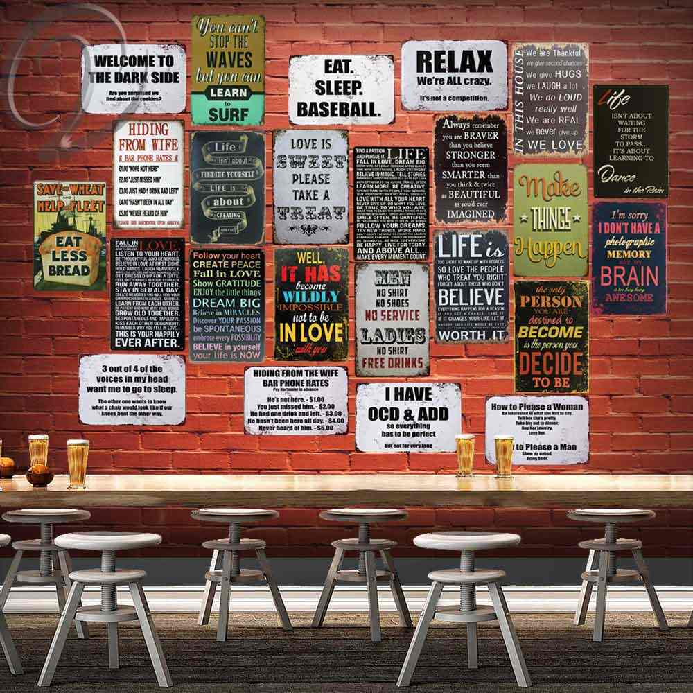 The Motto Of Life Metal Sign Vintage Home Decor 20*30 Tin Signs Plate Bar Cafe Home Shabby Chic Sign Board Wall Art Poster Within Faith, Hope, Love Raised Sign Wall Decor (View 23 of 30)