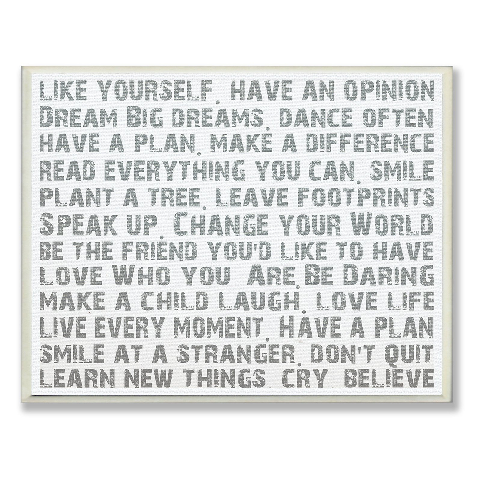 The Stupell Home Decor Collection Like Yourself Within Rectangle Like Yourself Inspirational Typography Wall Plaque (View 4 of 30)