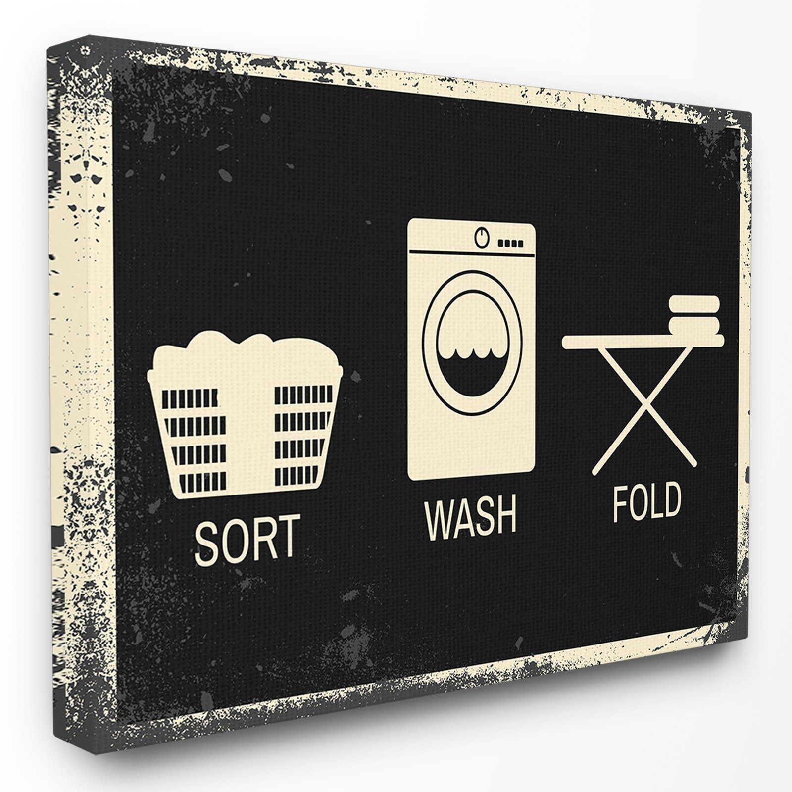 The Stupell Home Decor Collection Sort Wash Fold Symbols in Metal Laundry Room Wall Decor by Winston Porter (Image 20 of 30)