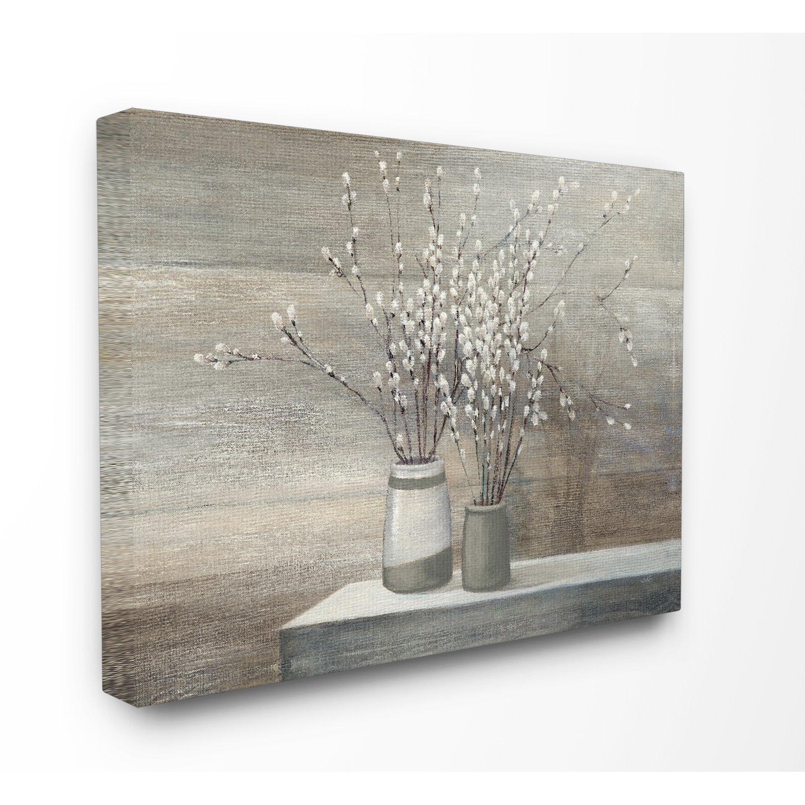 The Stupell Home Decor Collection Willow Still Life Canvas Intended For Vase And Bowl Wall Decor By Alcott Hill (View 16 of 30)