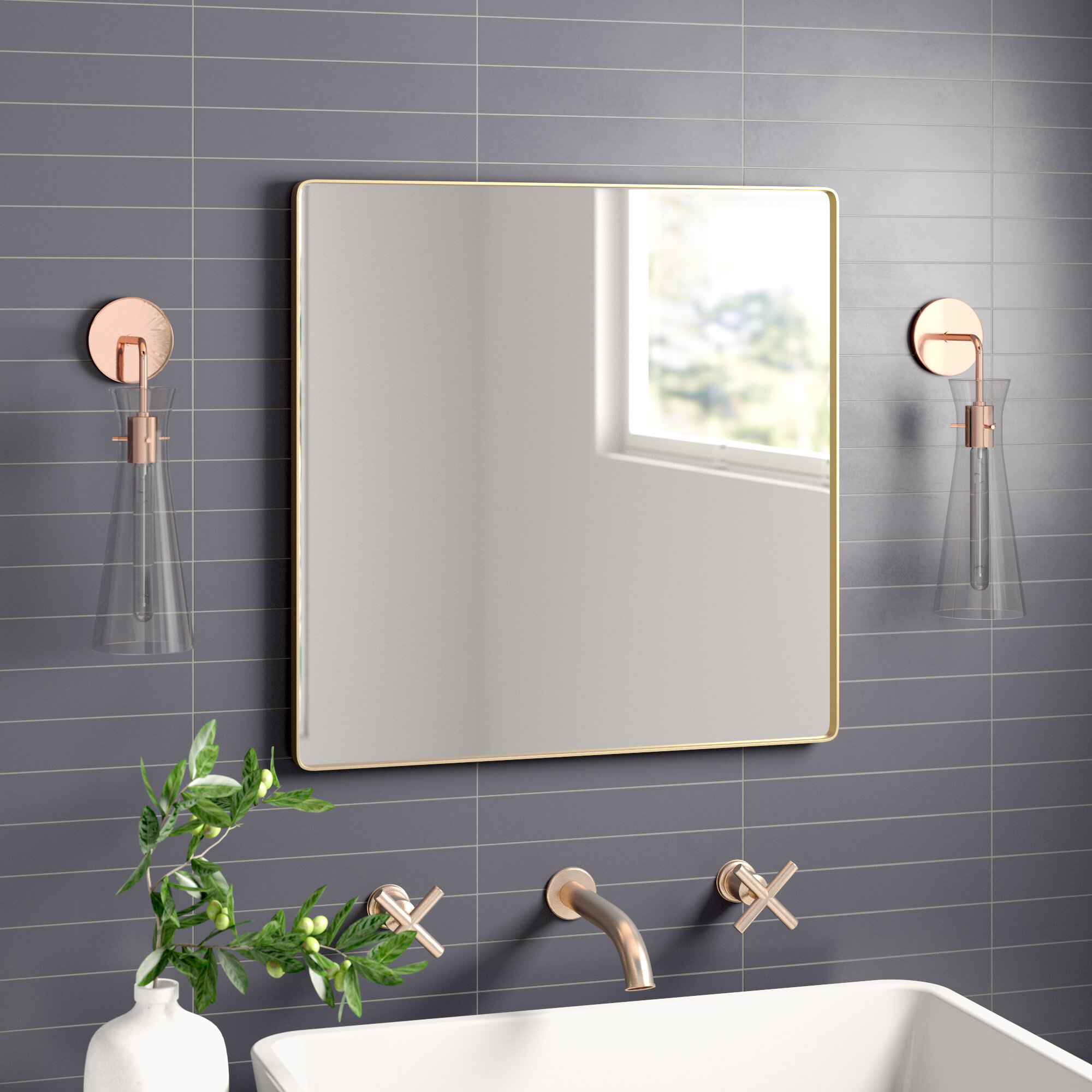 Theodore Modern & Contemporary Accent Mirror for Hub Modern and Contemporary Accent Mirrors (Image 20 of 30)