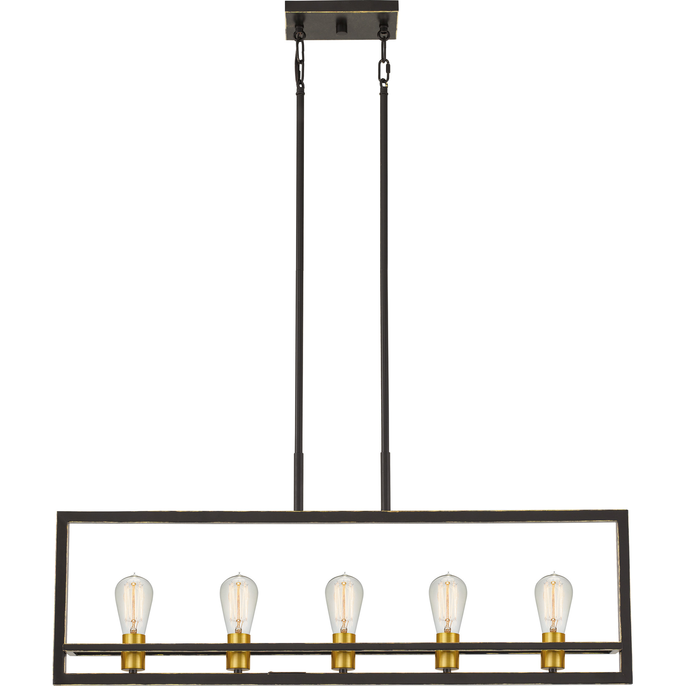 Theophania 5-Light Square/rectangle Chandelier pertaining to Jefferson 4-Light Kitchen Island Linear Pendants (Image 28 of 30)