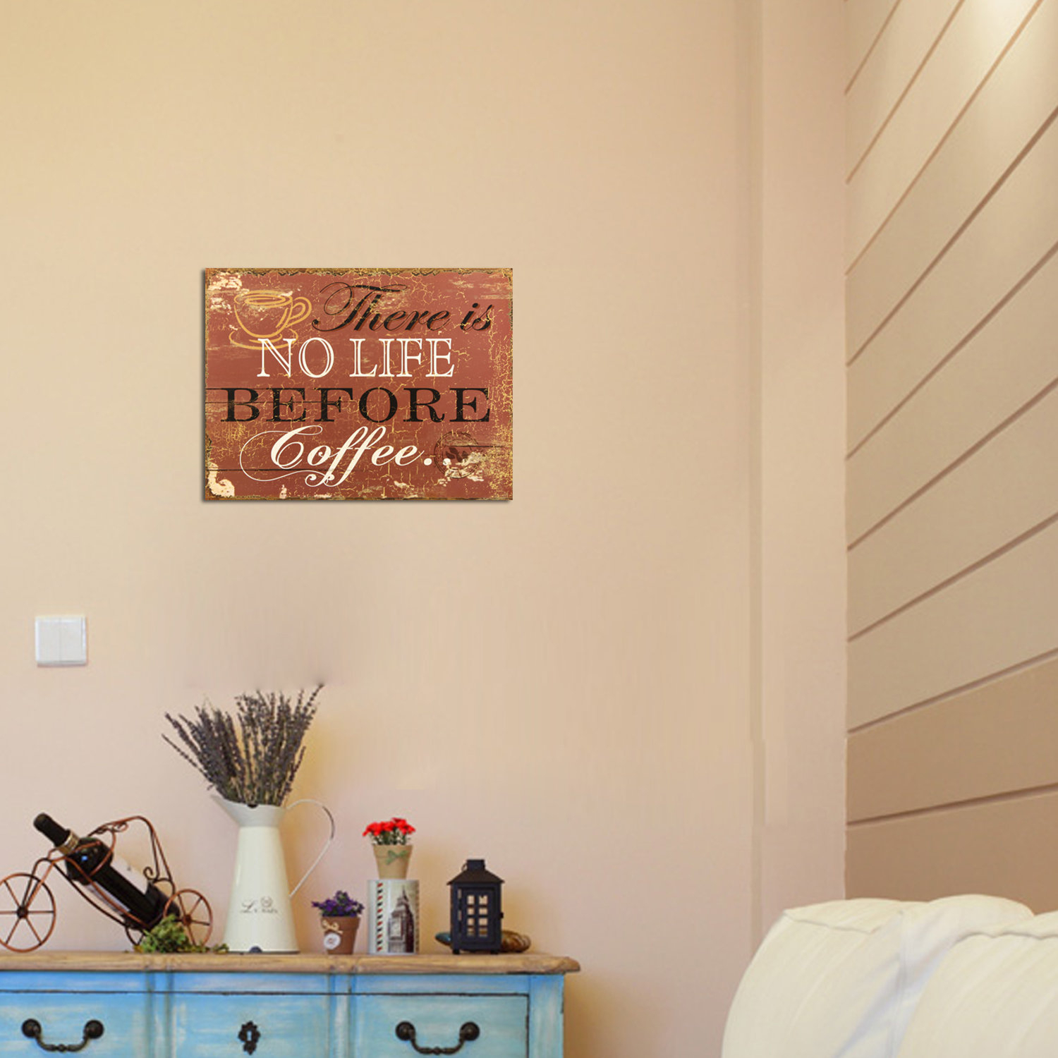 """there Is No Life Before Coffee"" Wall Decor with regard to Sign Wall Decor By Charlton Home (Image 1 of 30)"