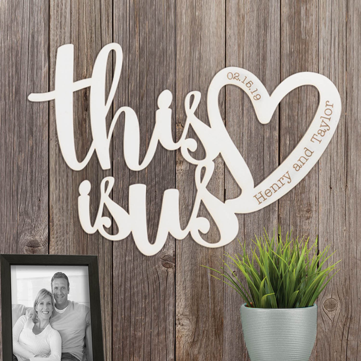 This Is Us Personalized Wood Plaque Wall Décor Pertaining To This Is Us Wall Decor (View 13 of 30)
