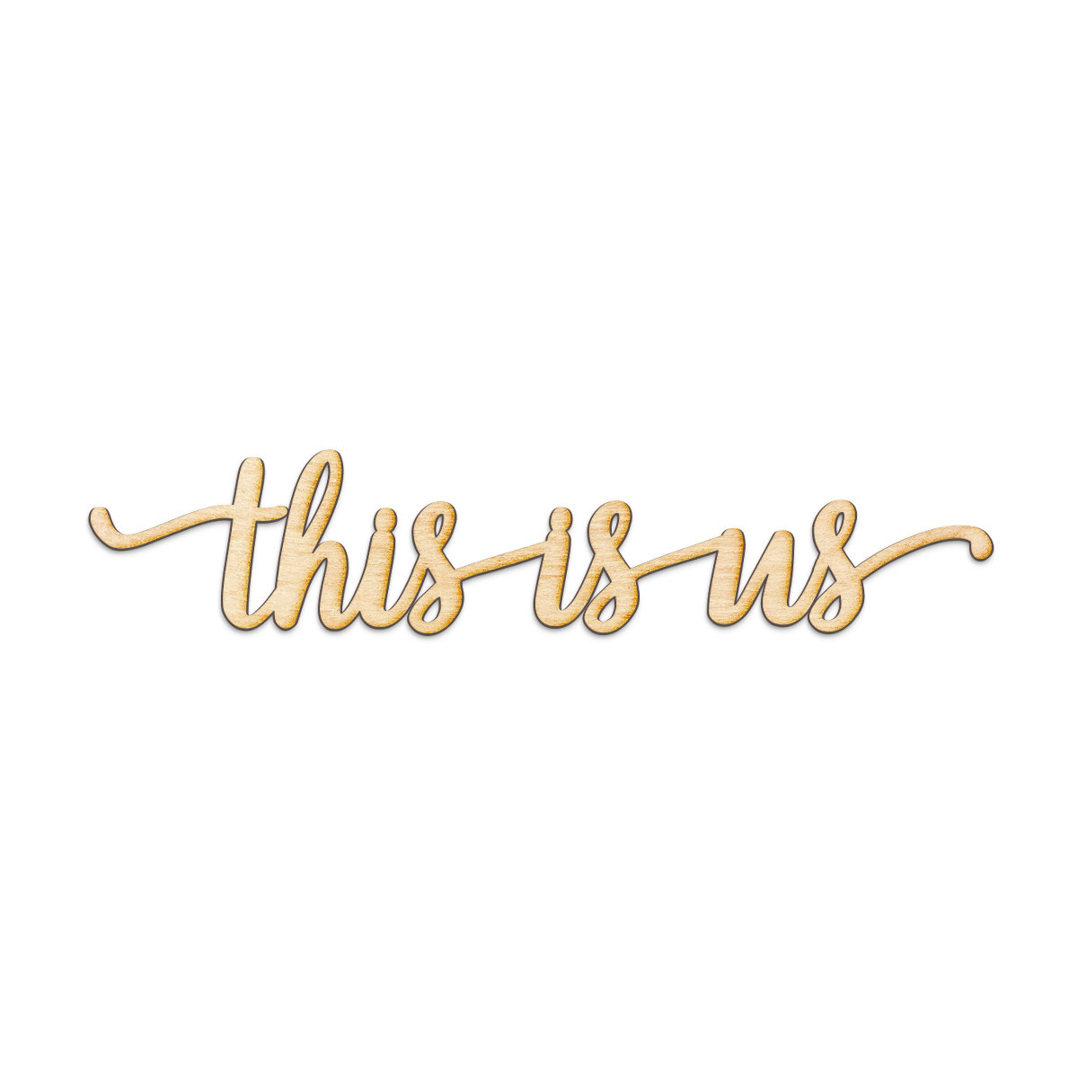 This Is Us Script Wood Sign Home Gallery Wall Décor With Regard To This Is Us Wall Decor (View 24 of 30)