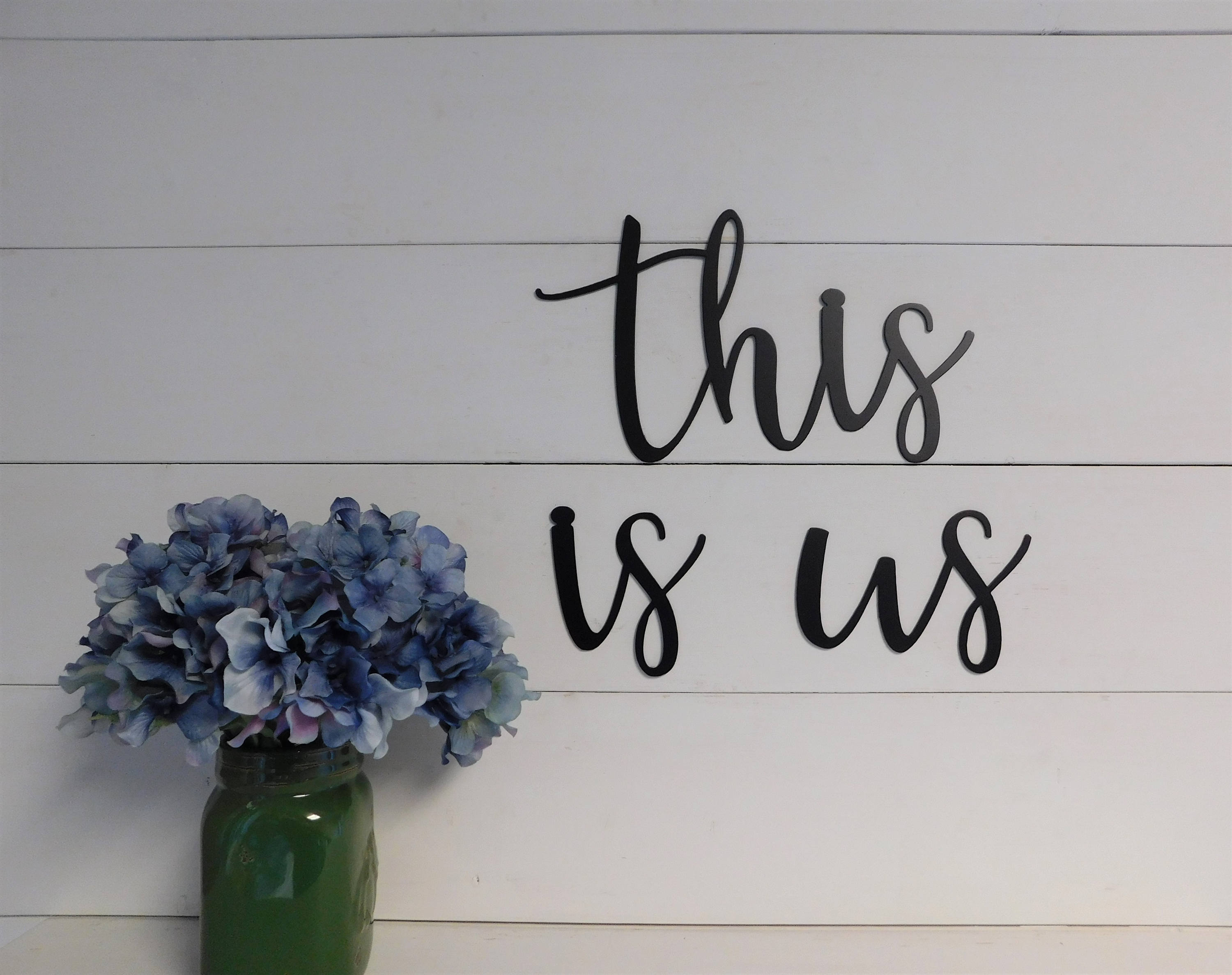 This Is Us Sign, Metal This Is Us Sign, Rustic Word Art Sign, Farmhouse Decor, This Is Us Inside This Is Us Wall Decor (View 2 of 30)