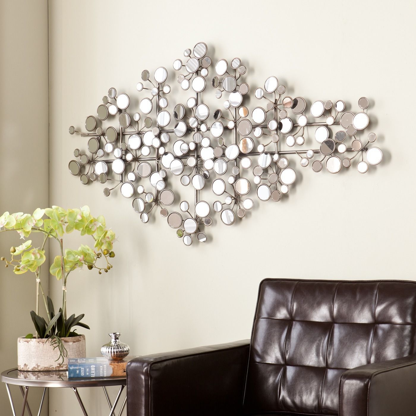 This Upton Home Olivia Mirrored Metal Wall Sculpture Intended For Alvis Traditional Metal Wall Decor (View 5 of 30)
