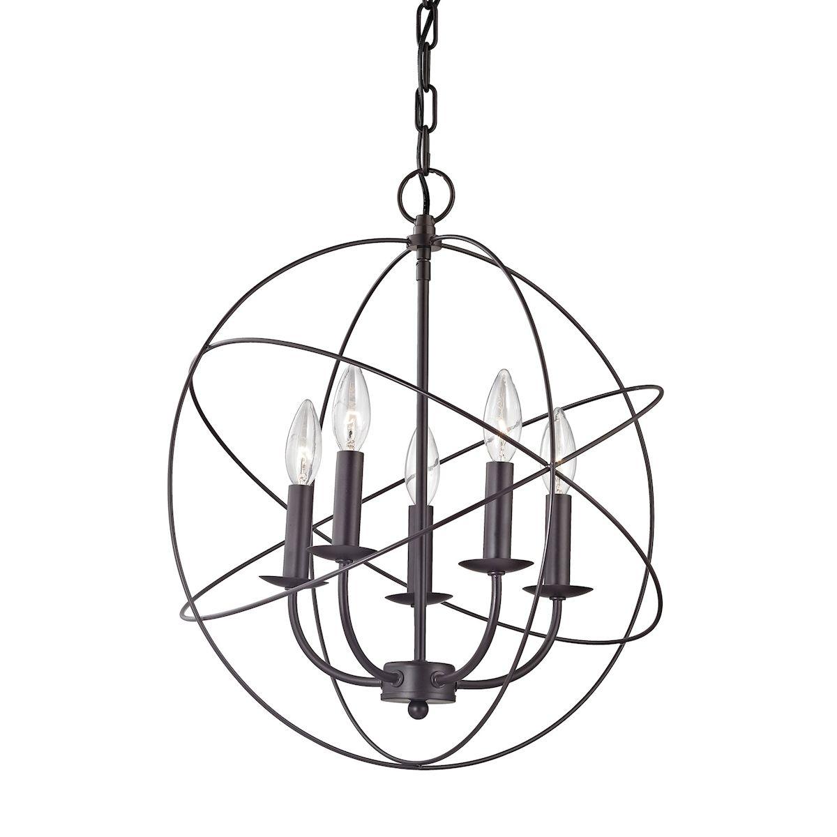 Thomas Lighting 1515Ch/10 Williamsport 5 Light Chandelier In with regard to Waldron 5-Light Globe Chandeliers (Image 24 of 30)