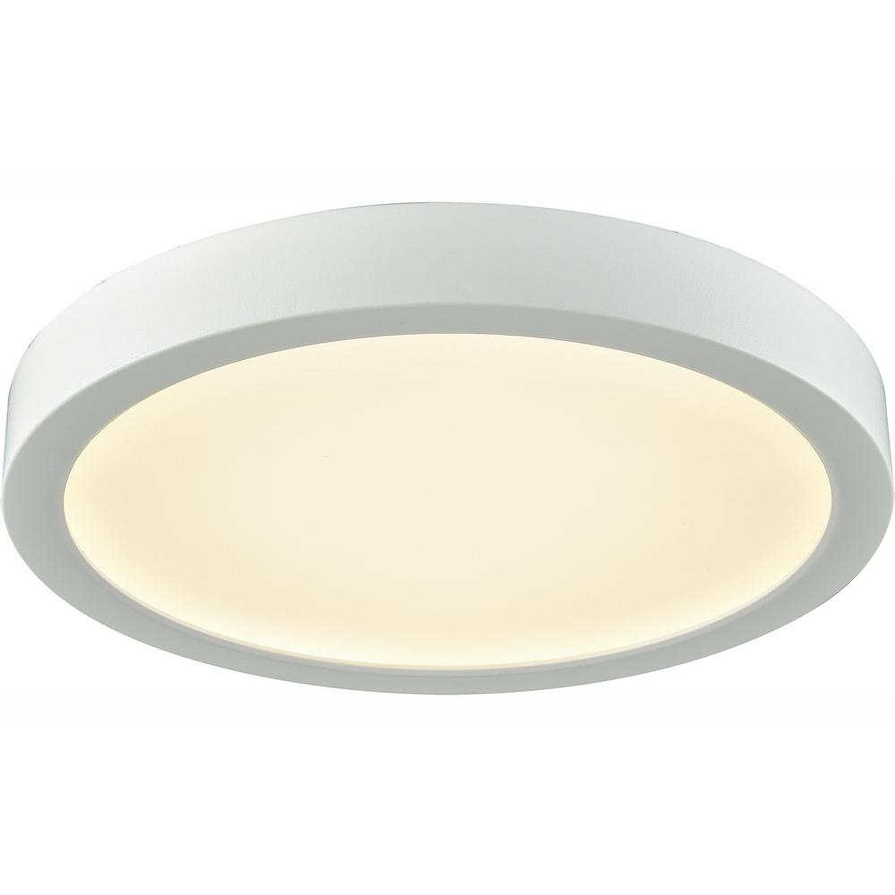 Thomas Lighting Titan 75 Watt White Integrated Led Flushmount Intended For Millbrook 5 Light Shaded Chandeliers (View 22 of 30)
