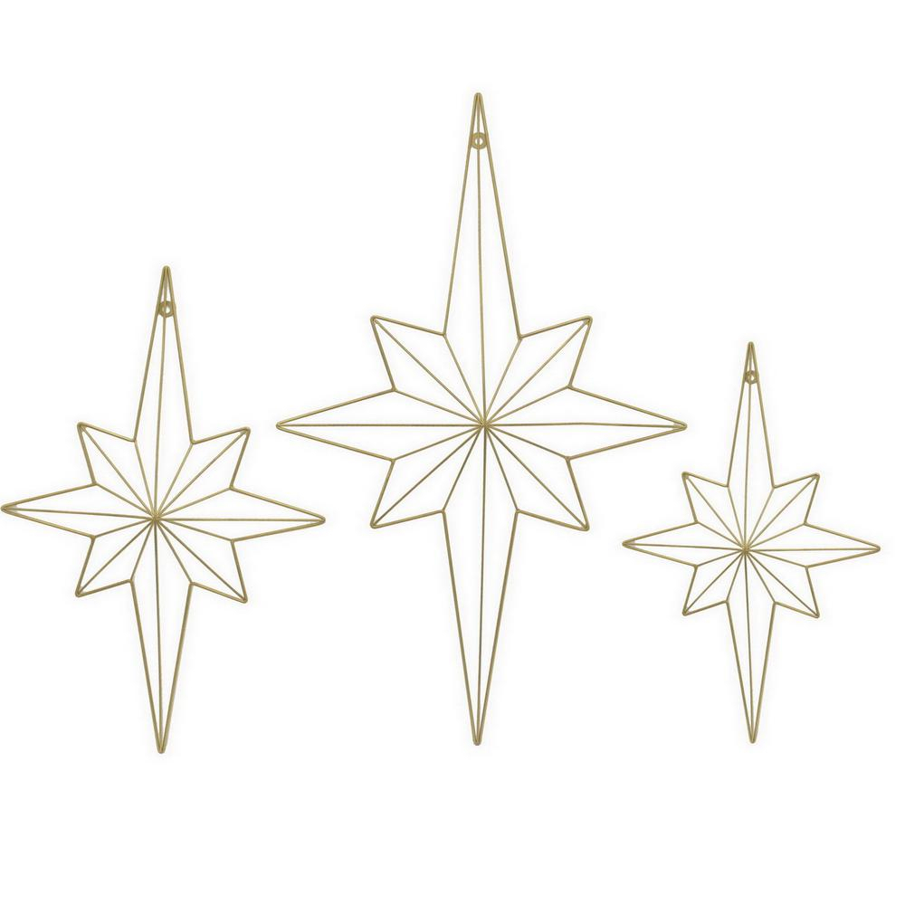Three Hands Metal Wall Decor (set Of 3), Gold | Products With Regard To 3 Piece Star Wall Decor Sets (View 16 of 30)