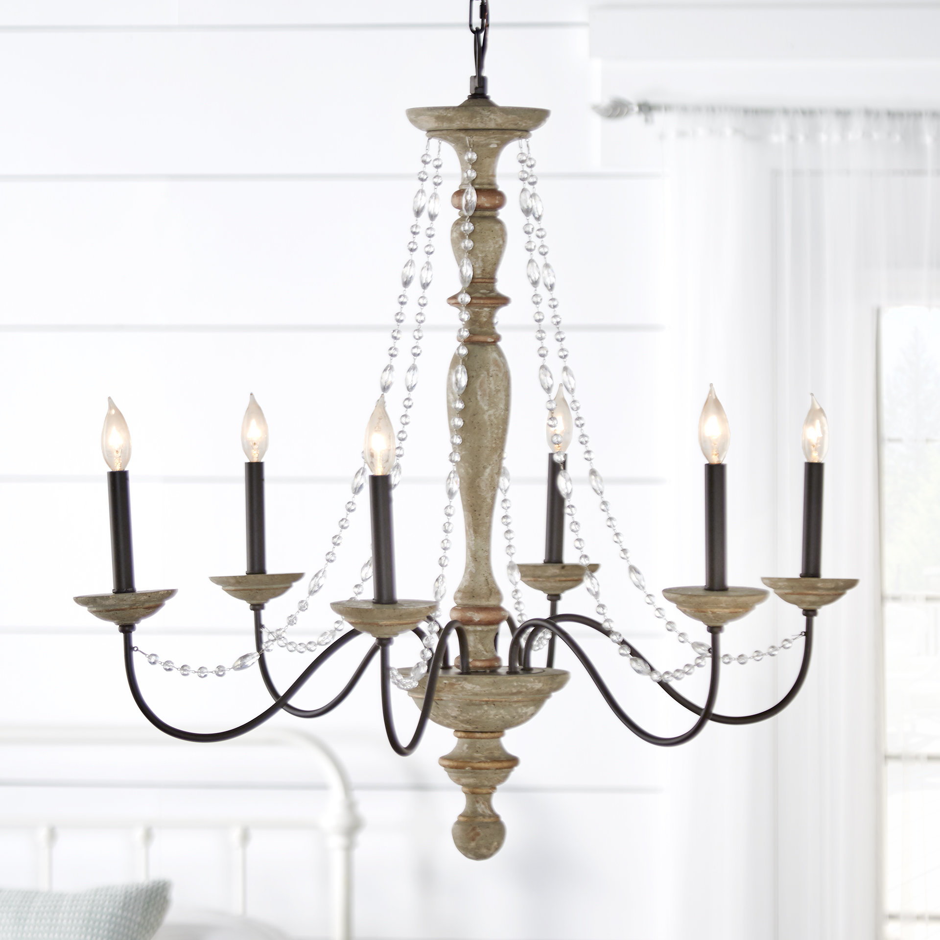 Three Posts Brennon 6 Light Candle Style Chandelier Pertaining To Hamza 6 Light Candle Style Chandeliers (View 6 of 30)