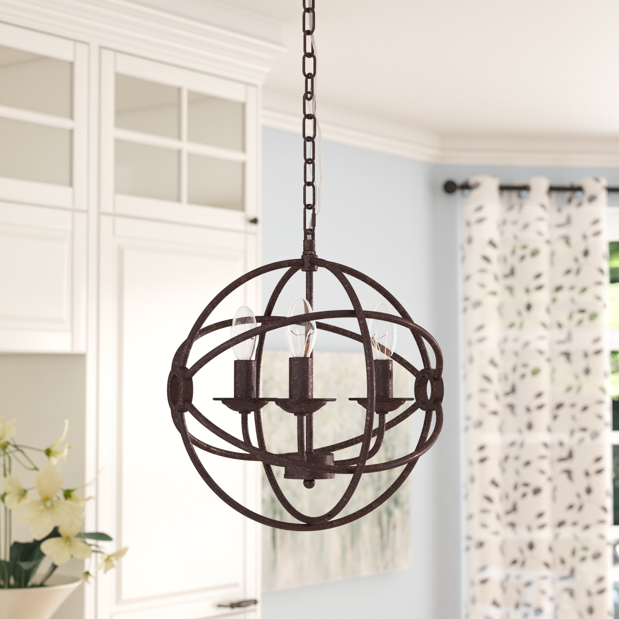Three Posts Shipststour 3 Light Globe Chandelier With Regard To Filipe Globe Chandeliers (View 10 of 30)
