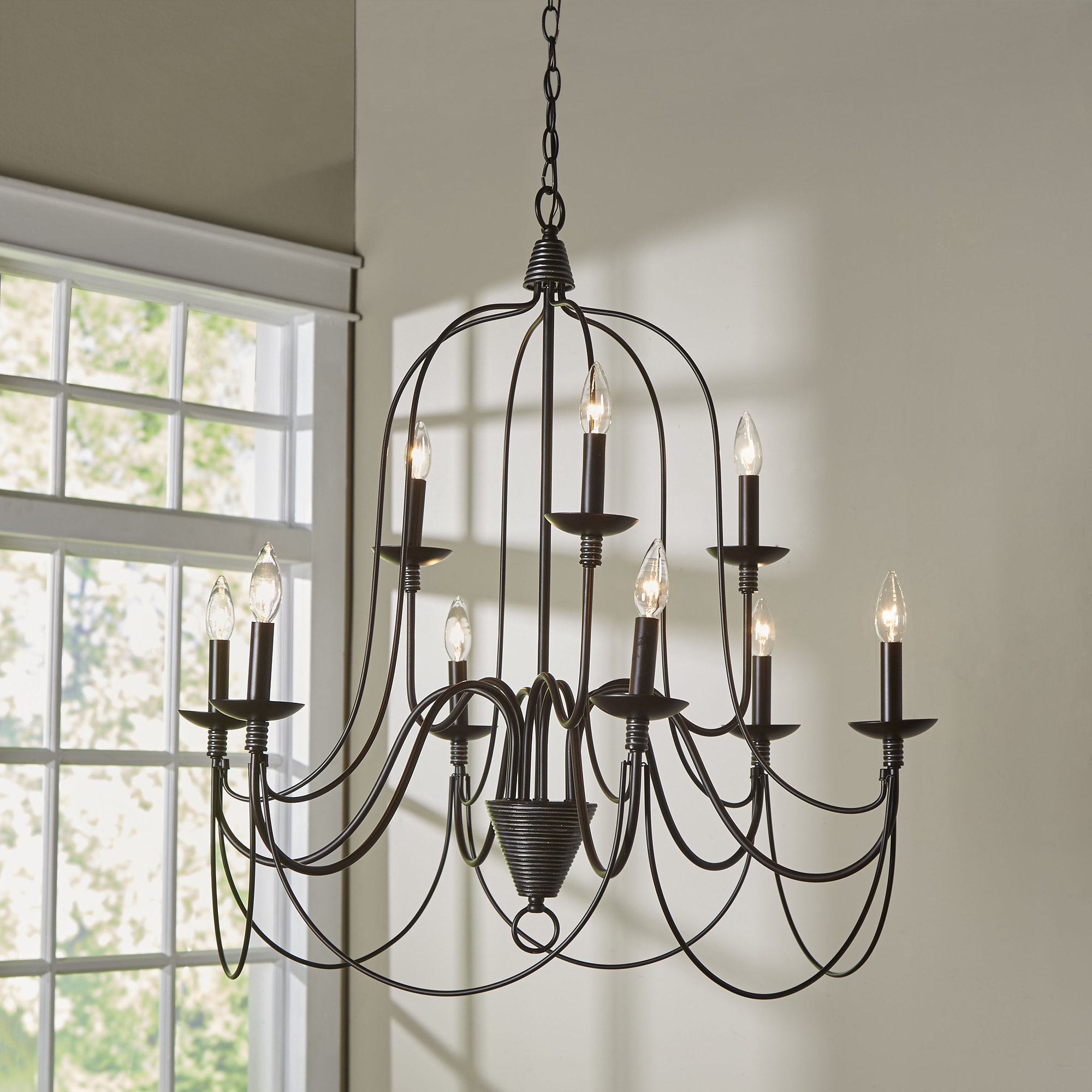 Three Posts Watford 9-Light Candle Style Chandelier in Camilla 9-Light Candle Style Chandeliers (Image 26 of 30)