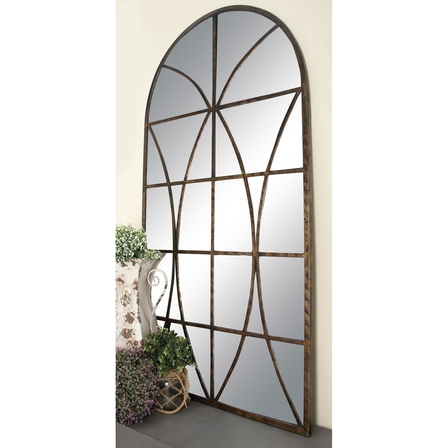 Thumbnail 0 | Mirrored | Traditional Wall Mirrors, Arch For Austin Industrial Accent Mirrors (View 16 of 30)
