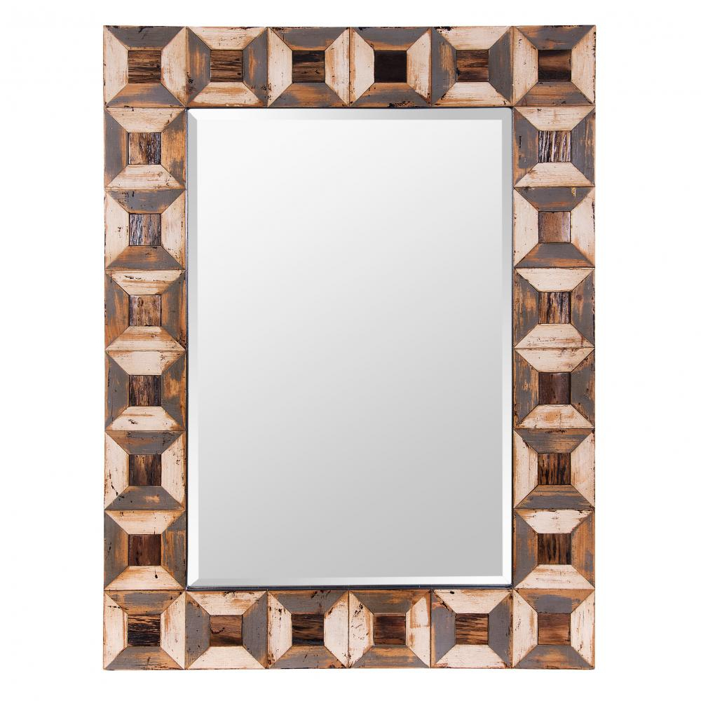Tiki 30x40 Reclaimed Wood Accent Mirror : 19kzh | Cartwright Throughout Wood Accent Mirrors (View 4 of 30)