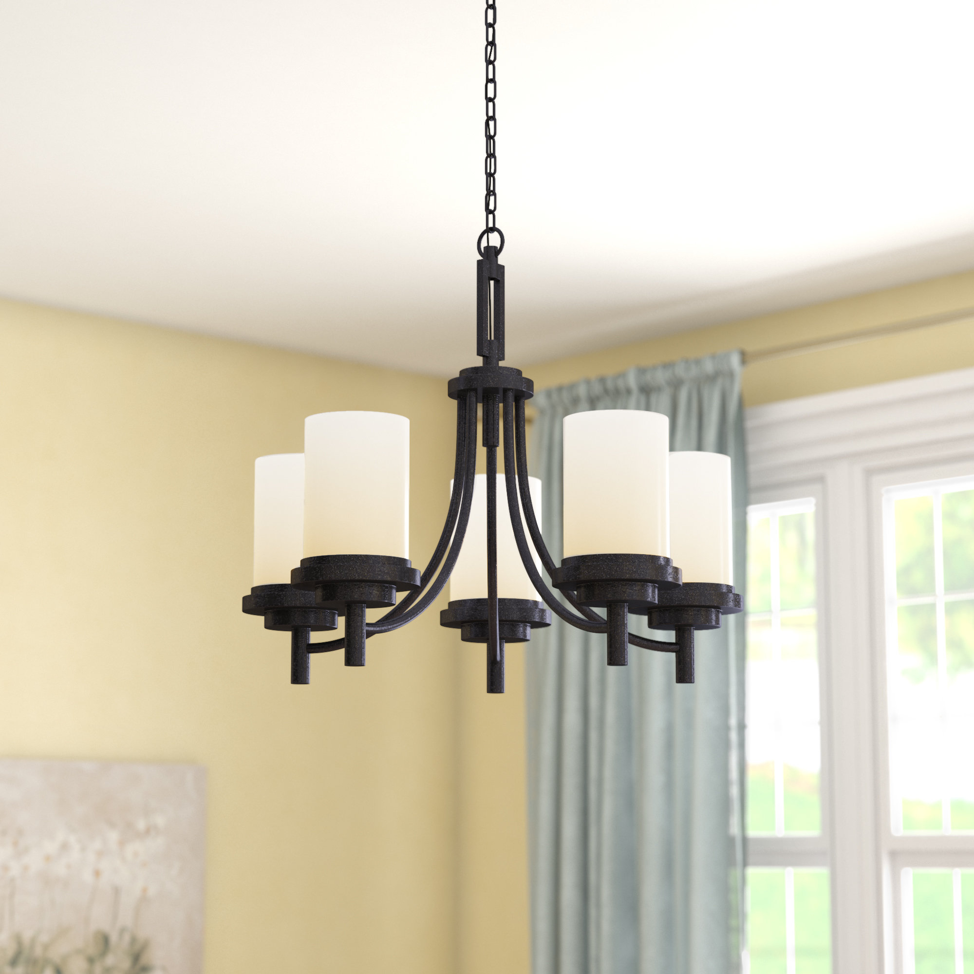 Tilford 5 Light Shaded Chandelier Pertaining To Crofoot 5 Light Shaded Chandeliers (View 14 of 30)