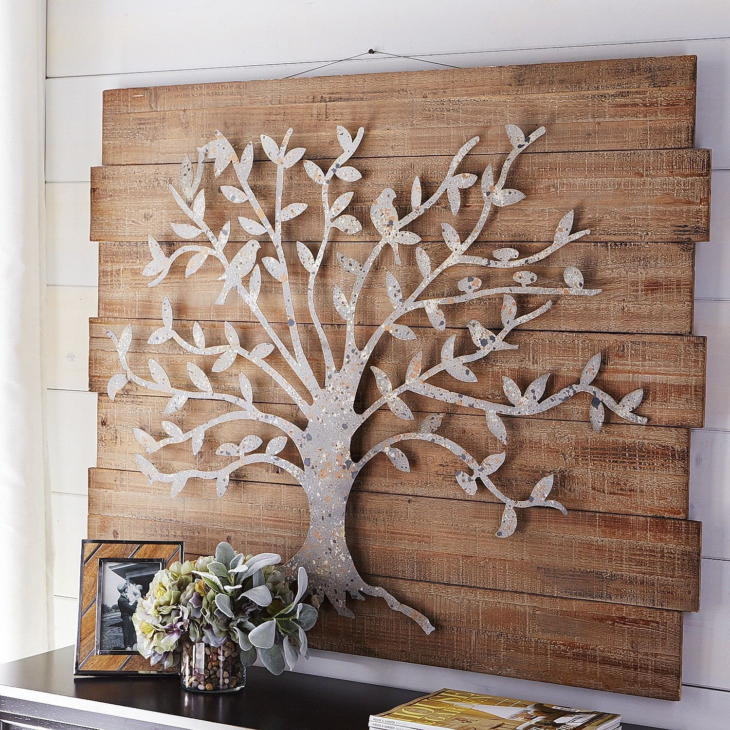 Timeless Tree Wall Decor | Pier 1 Imports … | Metal Work In throughout Ornamental Wood and Metal Scroll Wall Decor (Image 25 of 30)