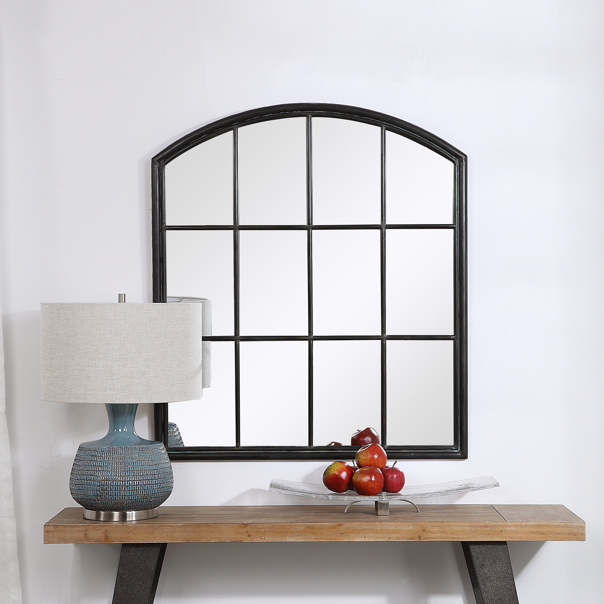 Tindell Arch Accent Mirror With Austin Industrial Accent Mirrors (View 7 of 30)