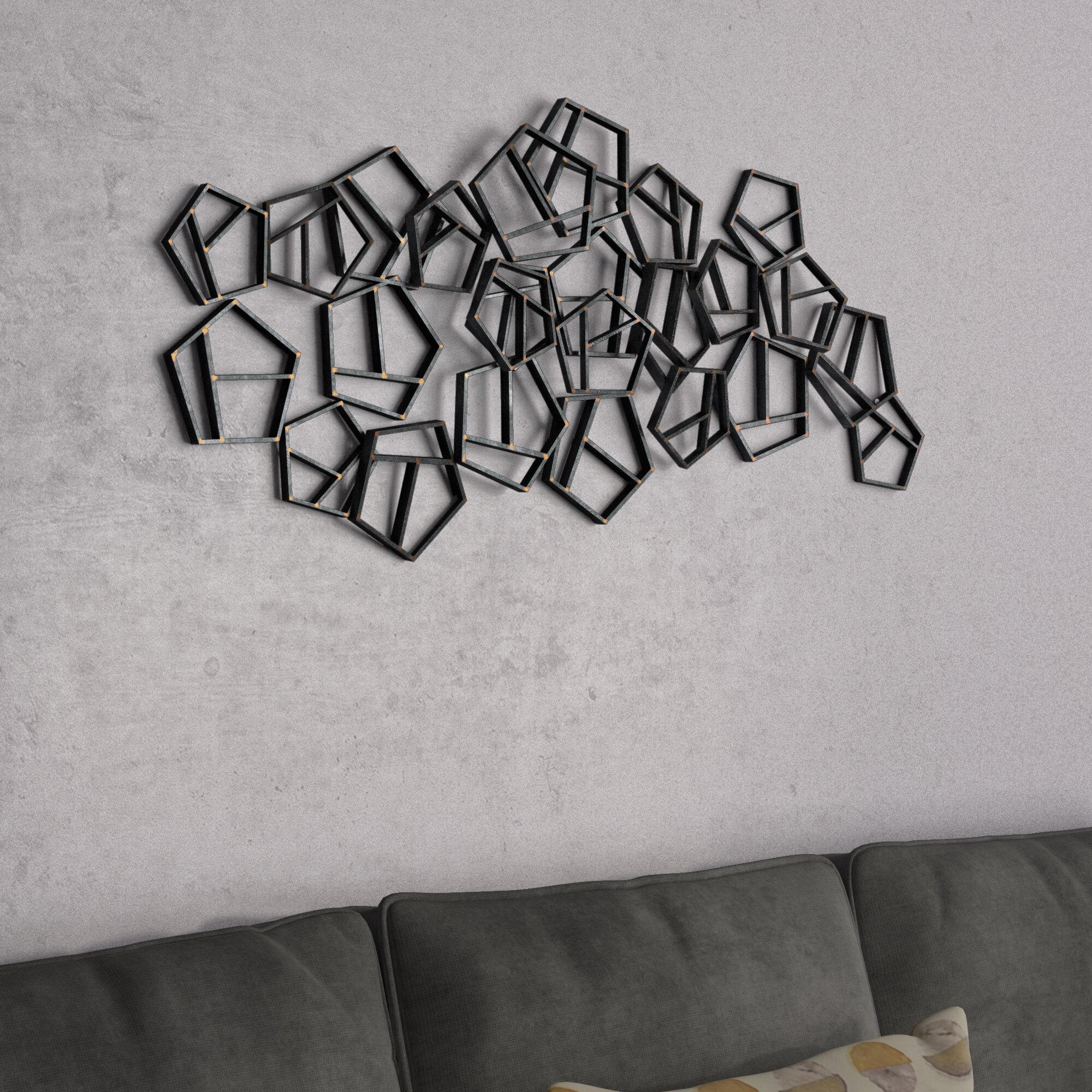 Tinplated Metal Wall Décor For Rings Wall Decor By Wrought Studio (View 23 of 30)