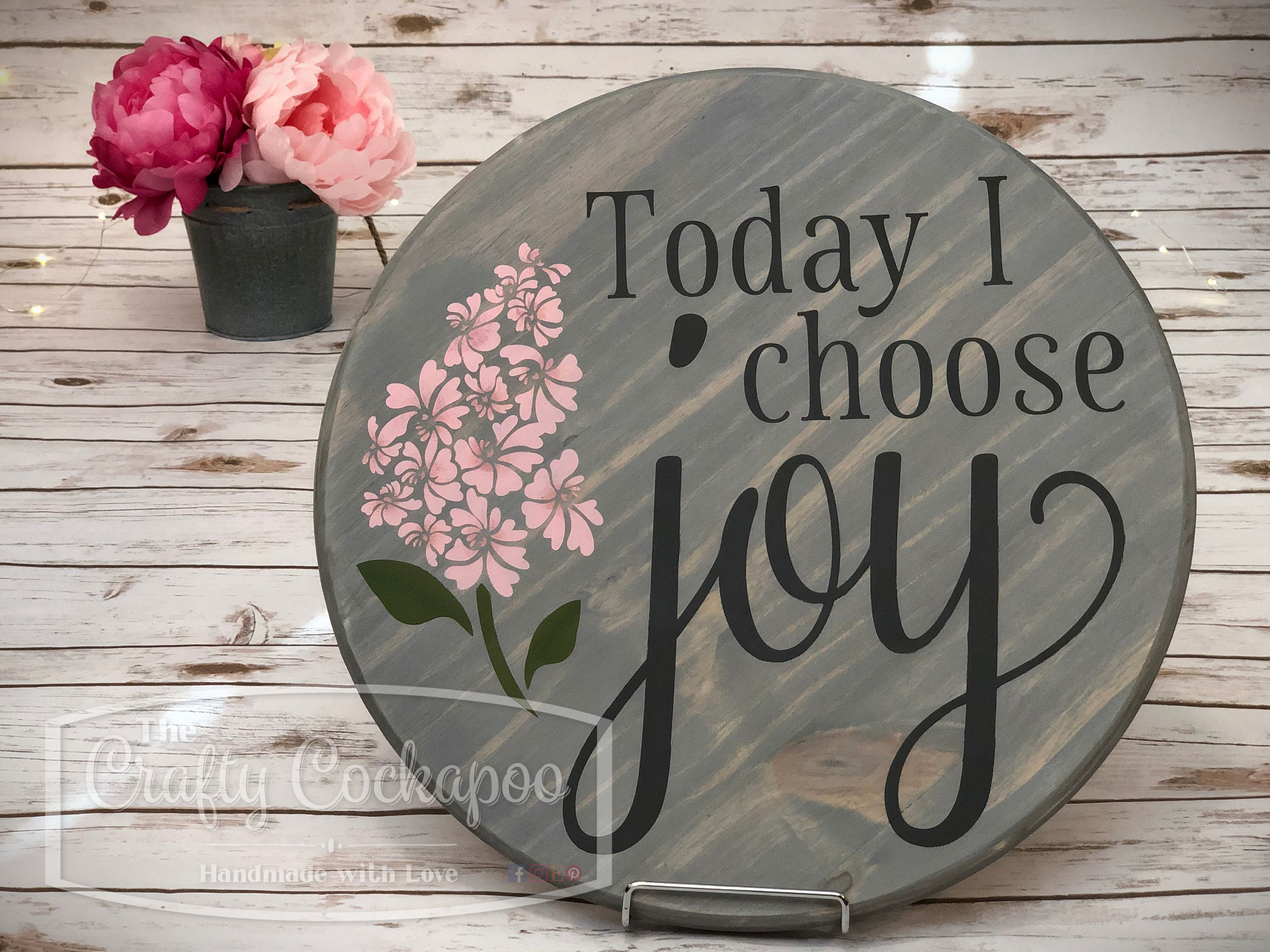 Today I Choose Joy Round Wood Sign, Inspirational Decor, Mother's Day Gift,  Joy Wall Art, Spring Decor in Let Whatever You Do Today Be Enough Wood Wall Decor (Image 22 of 30)