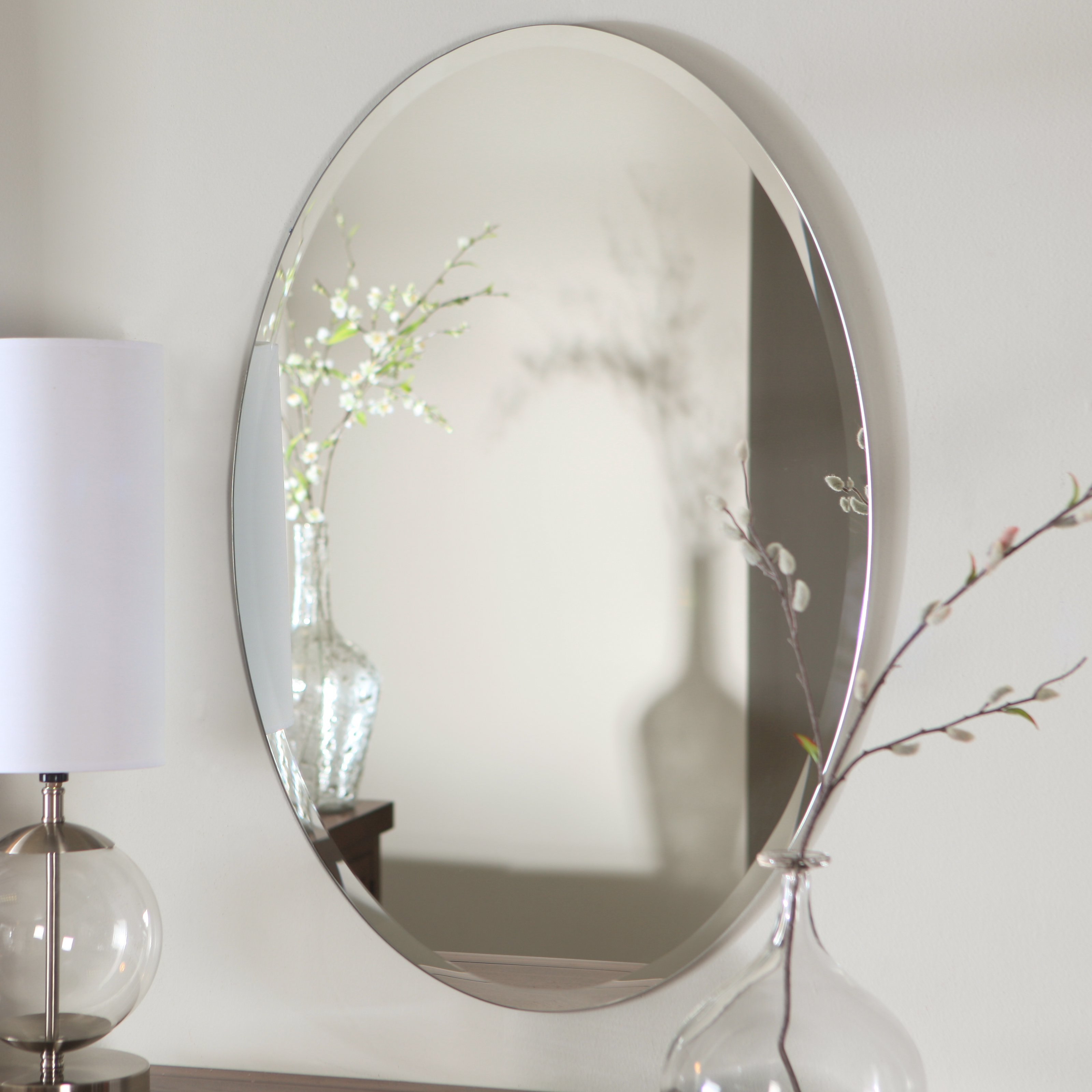 Top 35 Peerless Frameless Mirror Plain Floor Length Accent with Silver Frame Accent Mirrors (Image 29 of 30)