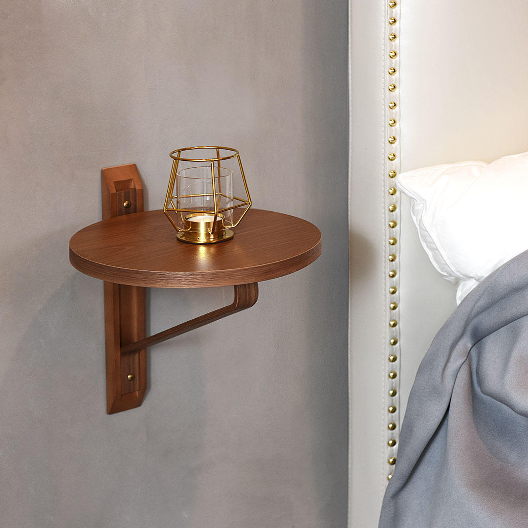 Torr Disc-Shaped Wall Hanging Storage Rack Bent Wood Craft Bedroom  Decorations Nordic Design From Xiaomi Youpin with Decorative Three Stacked Coffee Tea Cups Iron Widget Wall Decor (Image 27 of 30)