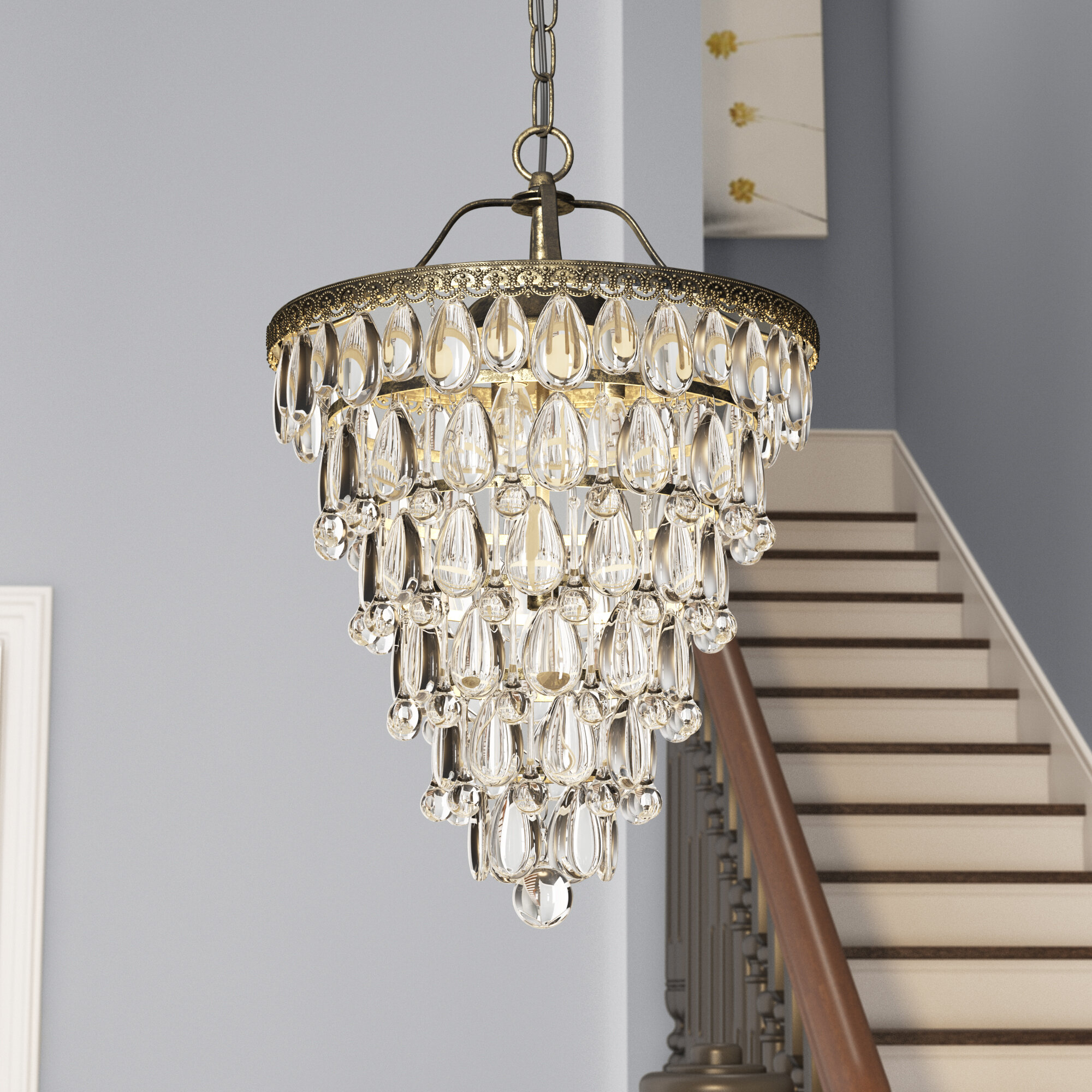 Totnes 4 Light Crystal Chandelier With Benedetto 5 Light Crystal Chandeliers (View 8 of 30)