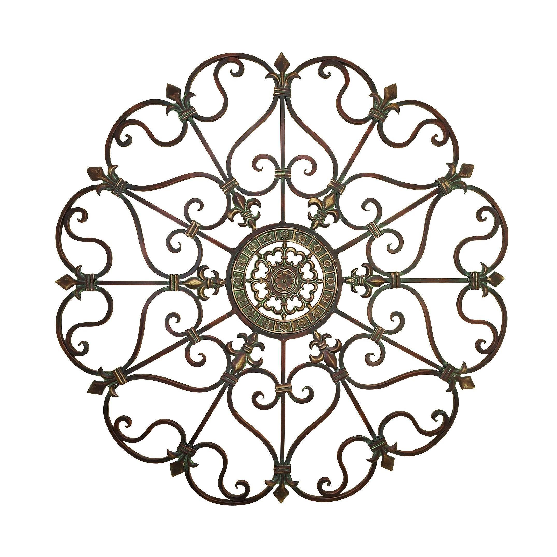 Traditional 29 Inch Ornate Metal Wall Decorstudio 350 regarding Ornate Scroll Wall Decor (Image 24 of 30)