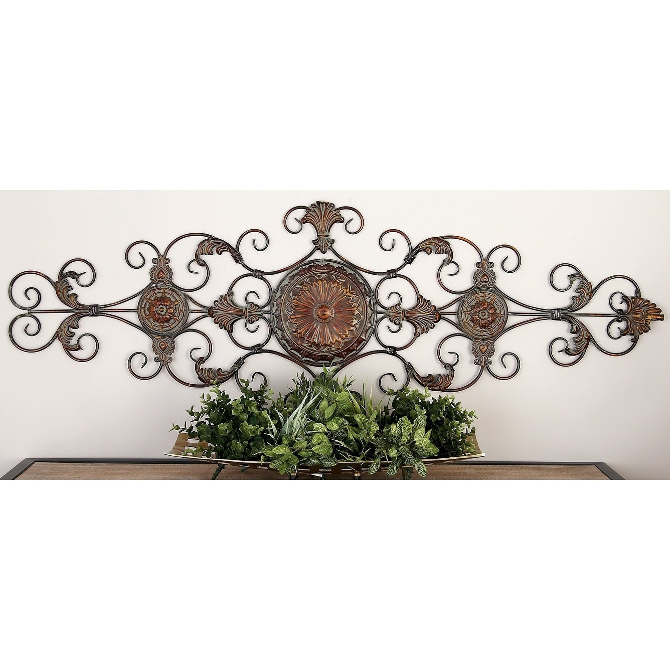 Traditional 55 Inch Scroll And Acanthus Leaf Wall Decorstudio 350 – Bronze Inside Scroll Leaf Wall Decor (View 29 of 30)