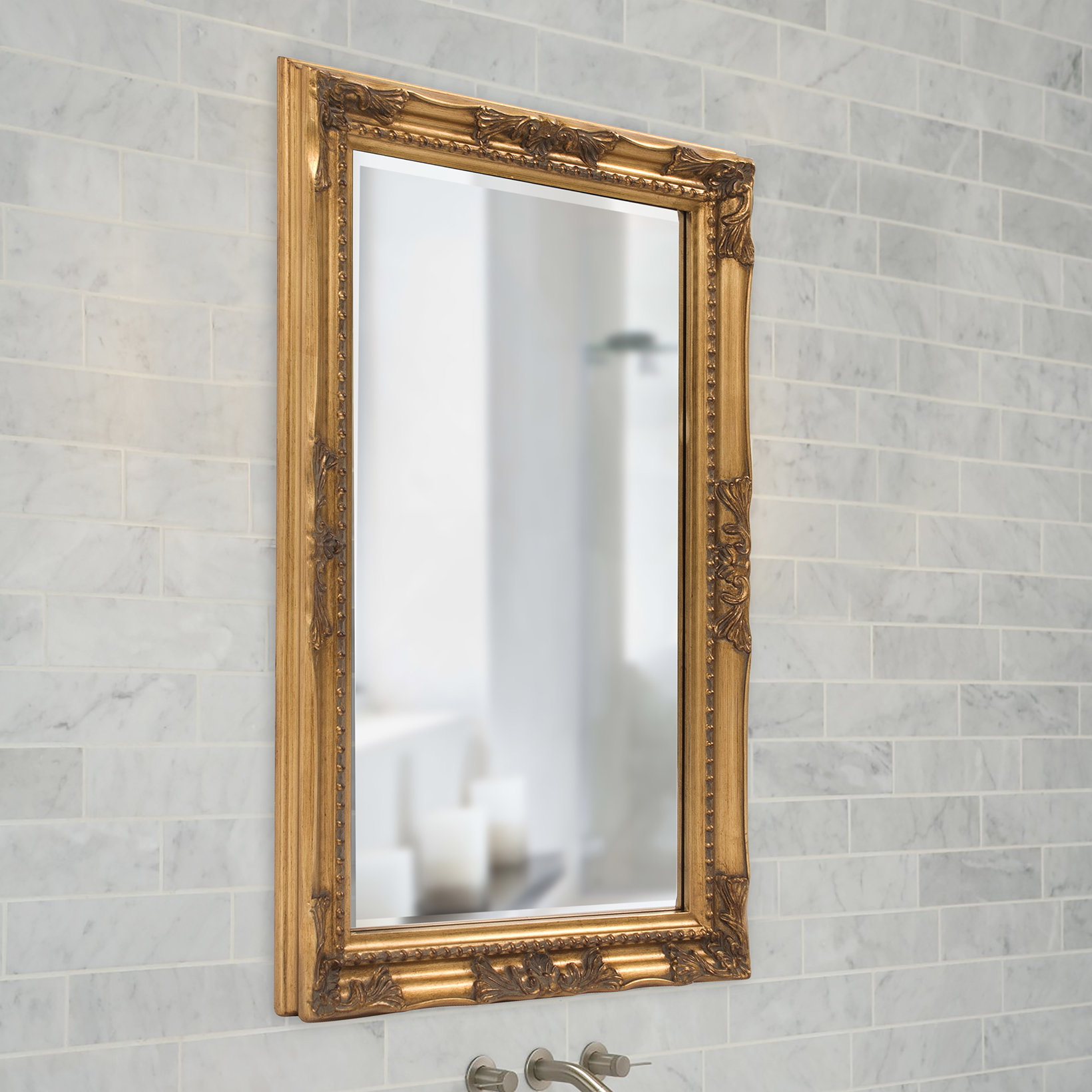 Traditional Beveled Accent Mirror Throughout Traditional Beveled Accent Mirrors (View 3 of 30)