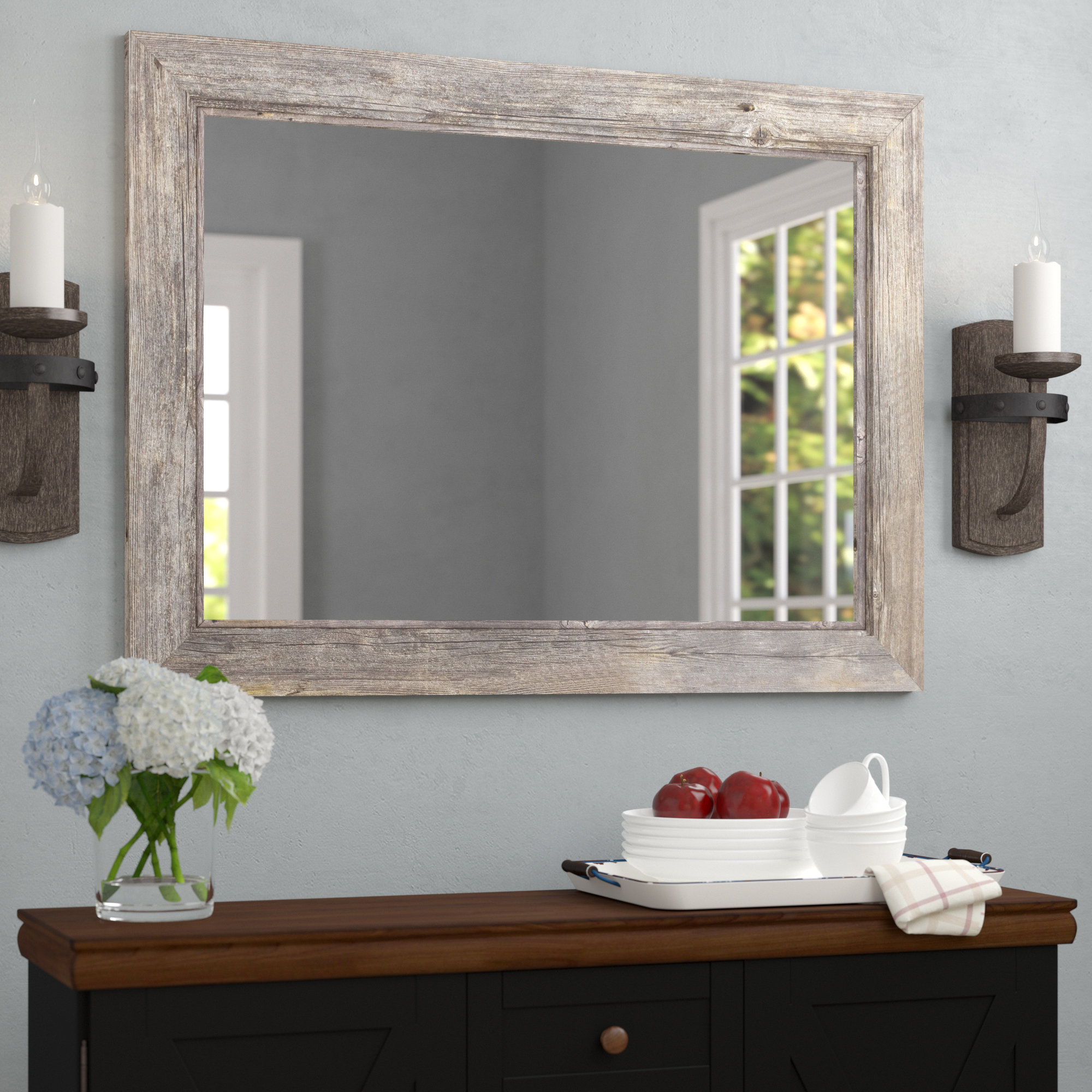 Traditional Beveled Accent Mirror with regard to Longwood Rustic Beveled Accent Mirrors (Image 24 of 30)