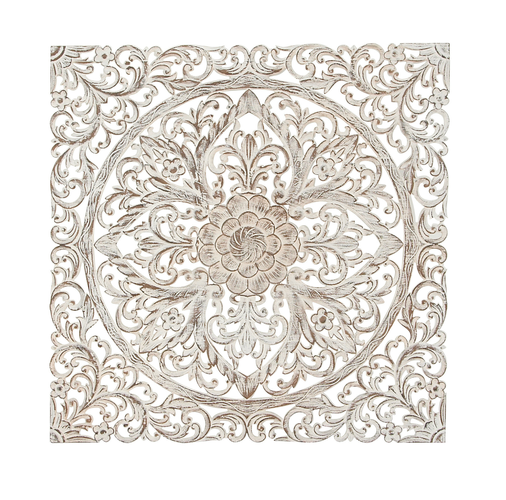 Traditional Carved Floral Medallion Wall Decor for Small Medallion Wall Decor (Image 26 of 30)