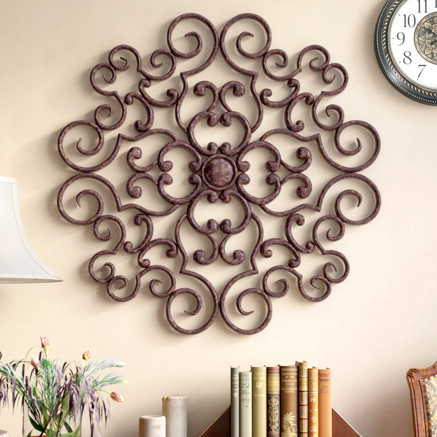 Traditional Metal Wall Décor with Metal Wall Decor by Charlton Home (Image 29 of 30)