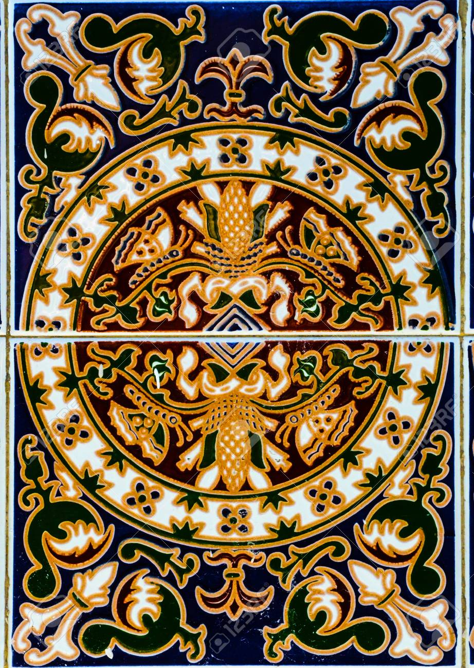 Traditional Ornamental Spanish Decorative Tiles, Original Ceramic.. inside Spanish Ornamental Wall Decor (Image 18 of 30)