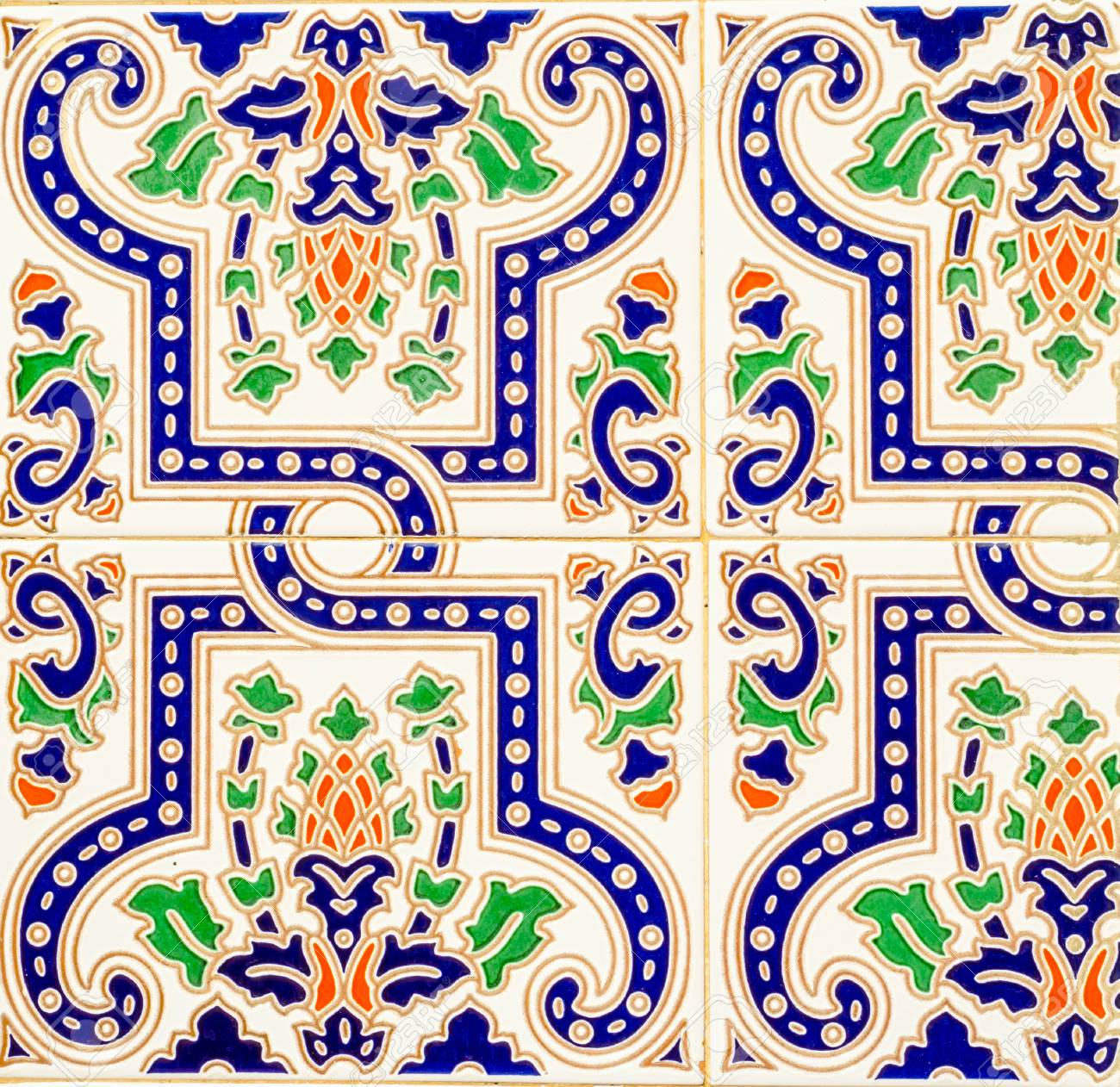 Traditional Ornamental Spanish Decorative Tiles, Original Ceramic.. within Spanish Ornamental Wall Decor (Image 21 of 30)