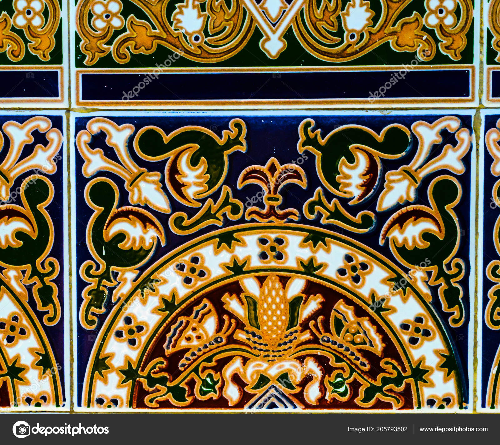 Traditional Ornamental Spanish Decorative Tiles Original In Spanish Ornamental Wall Decor (View 11 of 30)