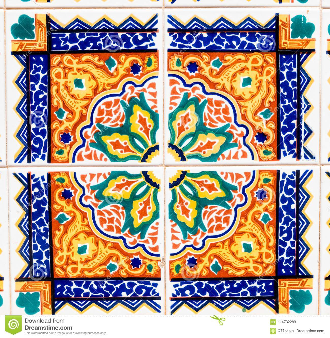 Traditional Ornamental Spanish Decorative Tiles, Original Pertaining To Spanish Ornamental Wall Decor (View 24 of 30)