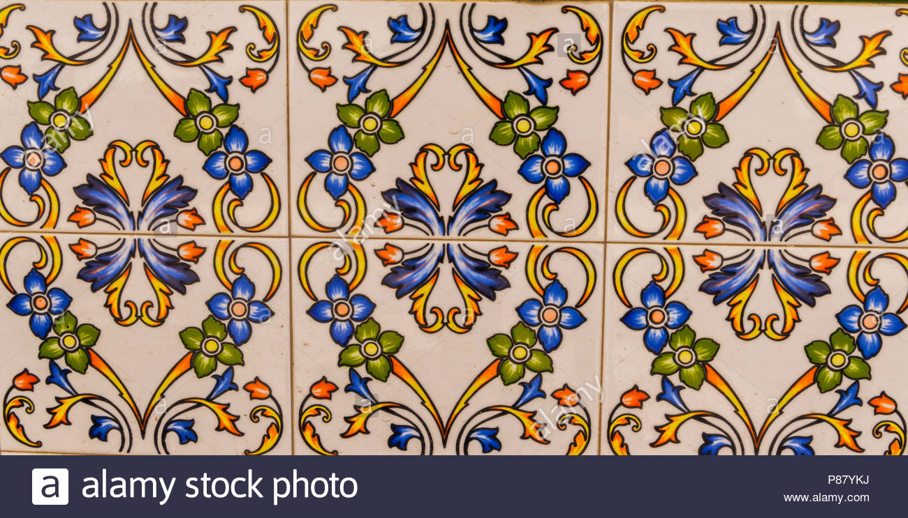 Traditional Ornamental Spanish Decorative Tiles, Original Pertaining To Spanish Ornamental Wall Decor (View 23 of 30)