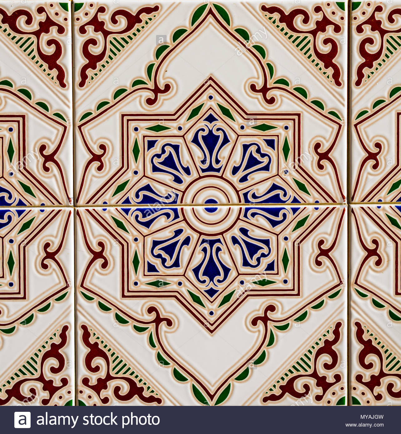 Traditional Ornamental Spanish Decorative Tiles, Original Throughout Spanish Ornamental Wall Decor (View 26 of 30)