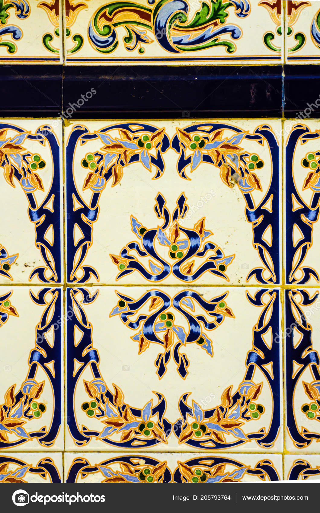 Traditional Ornamental Spanish Decorative Tiles Original With Regard To Spanish Ornamental Wall Decor (View 14 of 30)
