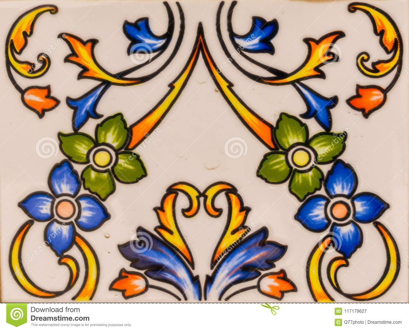 Traditional Ornamental Spanish Decorative Tiles, Original With Regard To Spanish Ornamental Wall Decor (View 27 of 30)